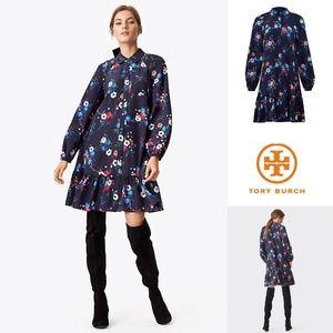 Tory Burch Gabrielle Floral Silk Shirt Dress